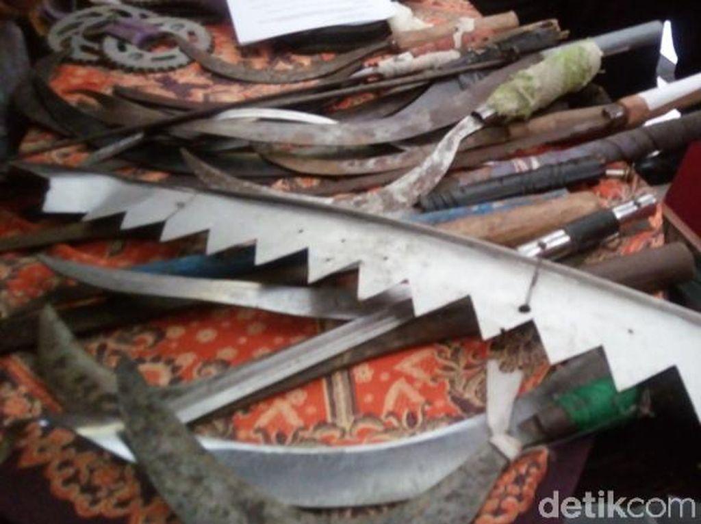 Tawuran Berdarah di Magelang, 30 Sajam Disita dari Tangan Pelajar