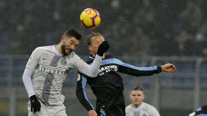Inter dan Lazio saling berhadapan di babak perempatfinal Coppa Italia. Pertandingan digelar di Giuseppe Meazza, Jumat (1/2/2019) dini hari WIB. Getty Images/Marco Rosi