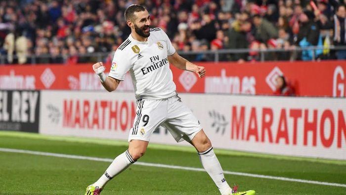 Striker Real Madrid Karim Benzema. (Foto: David Ramos/Getty Images)