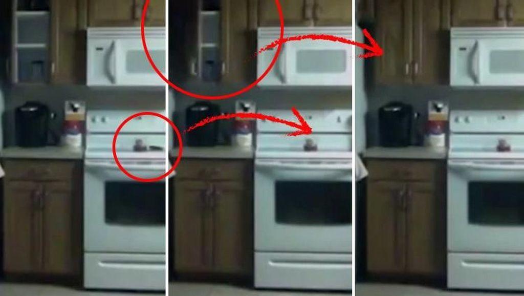 Gelas dan Kursi Melayang Sendiri, Ini Penampakkan Hantu Seram di Dapur