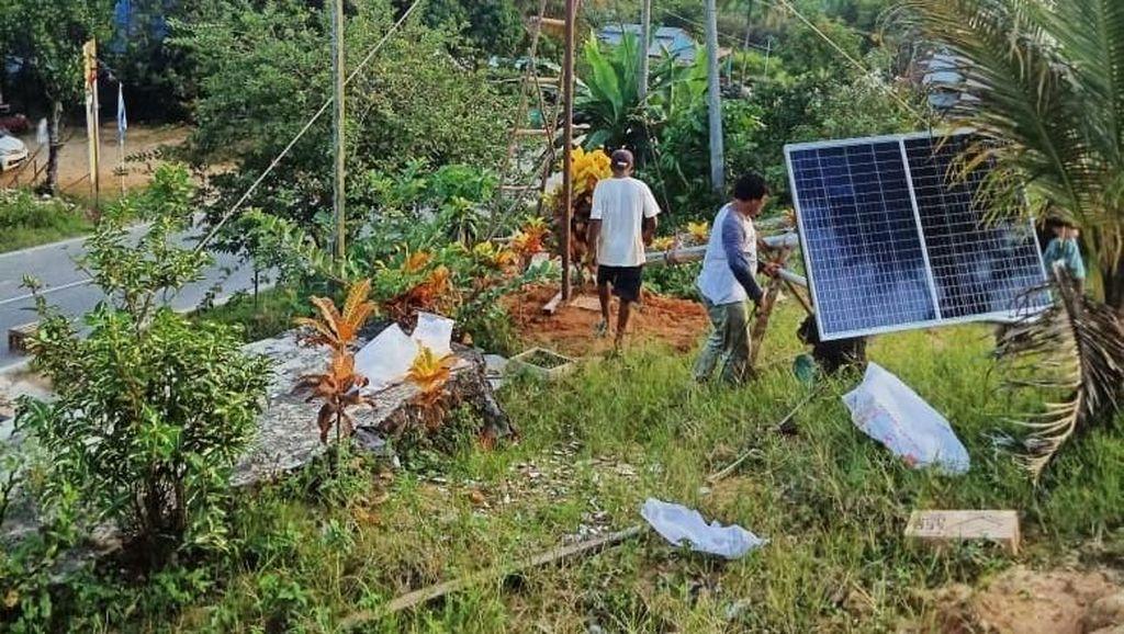 Jalan Desa di Kaltim Kini Tak Lagi Gelap Gulita