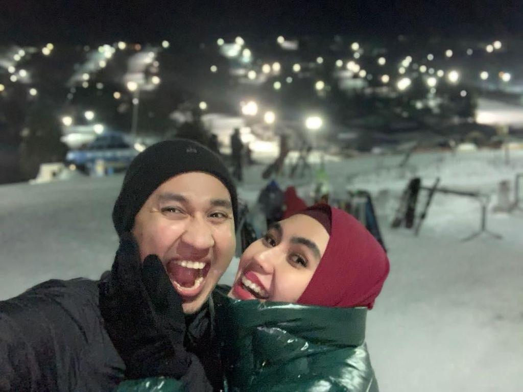 Foto: Mesranya Liburan Kartika Putri dan Suami di Amerika