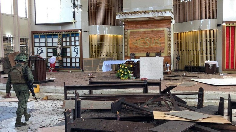 Suami Istri Asal Indonesia Pelaku Bom Bunuh Diri di Gereja Filipina