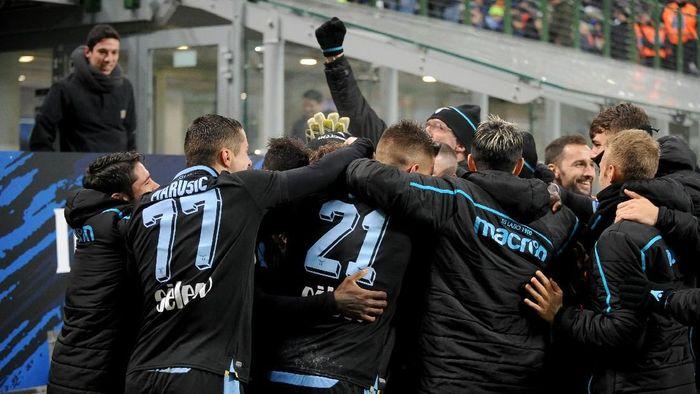 Lazio menyingkirkan Inter Milan di perempatfinal Coppa Italia. (Foto: Marco Rosi/Getty Images)