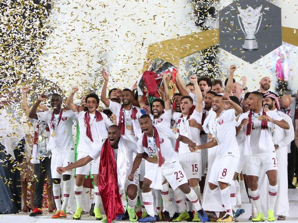 Pernah Dikalahkan Indonesia, Qatar Kini Juara Asia