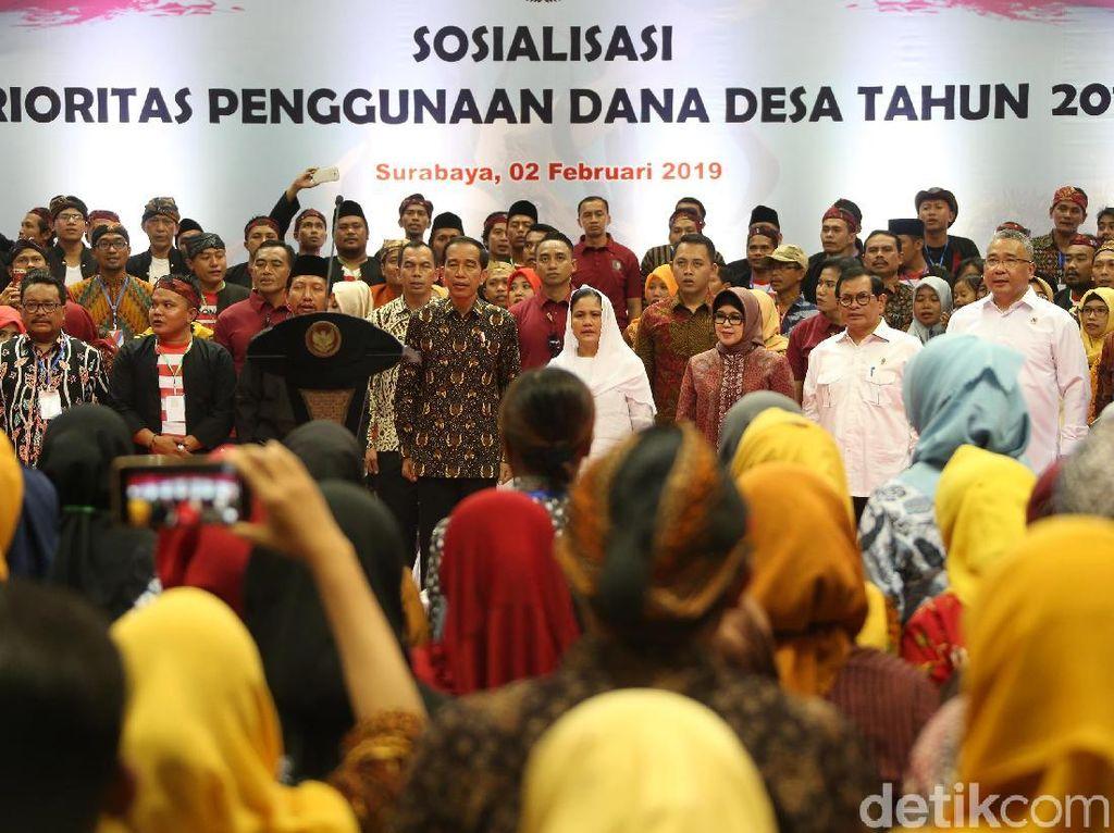 Keliling Surabaya, Jokowi Hadiri Sosialisasi Dana Desa