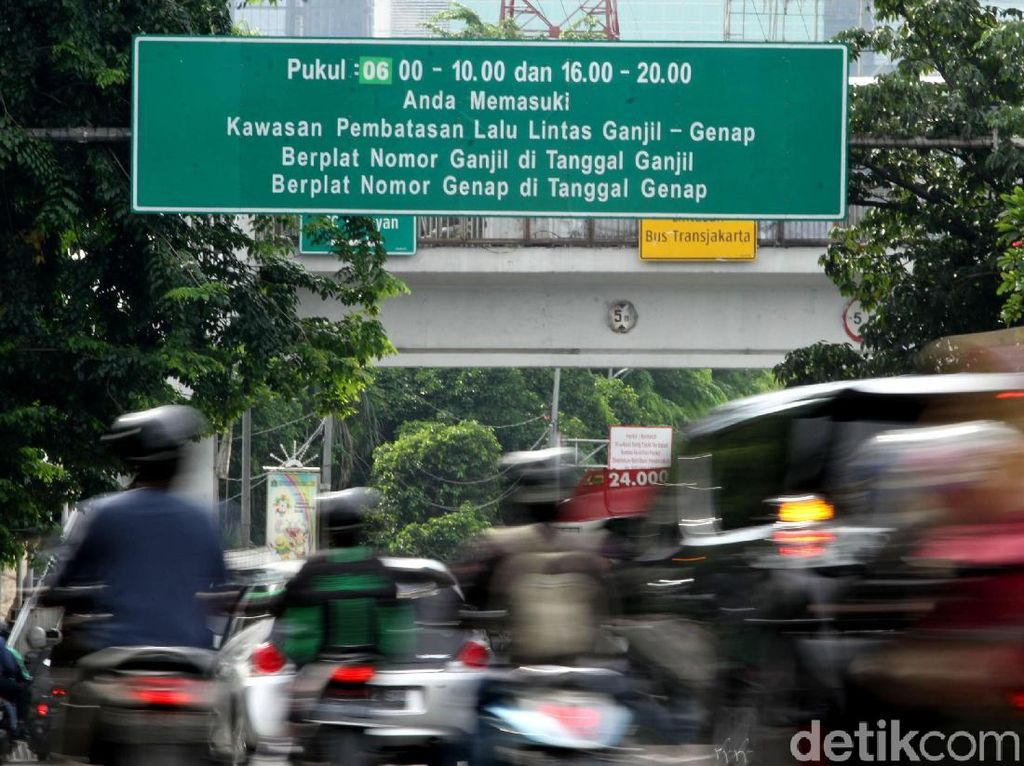 Rambu Ganjil Genap DKI Jakarta Bakal Diganti Elektronik