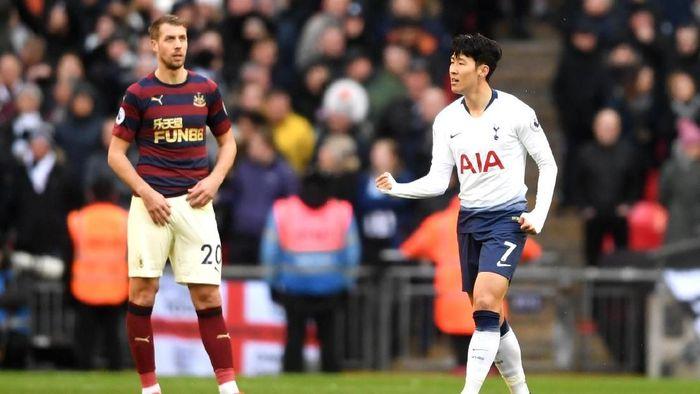 Tottenham Hotspur menang 1-0 atas Newcastle United berkat gol Son Heung-min. (Foto: Laurence Griffiths/Getty Images)