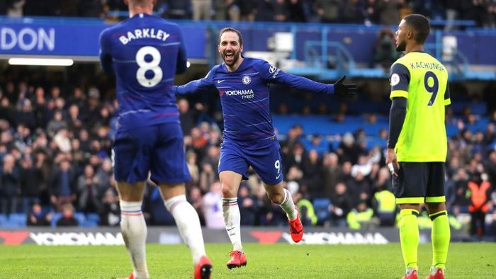 Chelsea menang 5-0 atas Huddersfield Town. (Foto: Richard Heathcote/Getty Images)