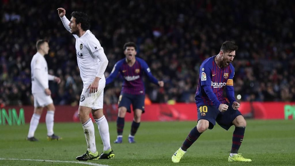 Video Highlight La Liga, Valencia 2 Messi 2