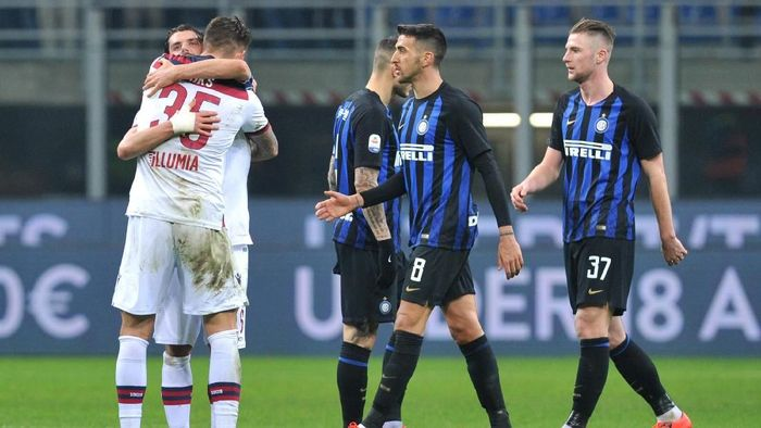 Inter Milan dikalahkan Bologna di kandang sendiri (Foto: Jennifer Lorenzini/Reuters)