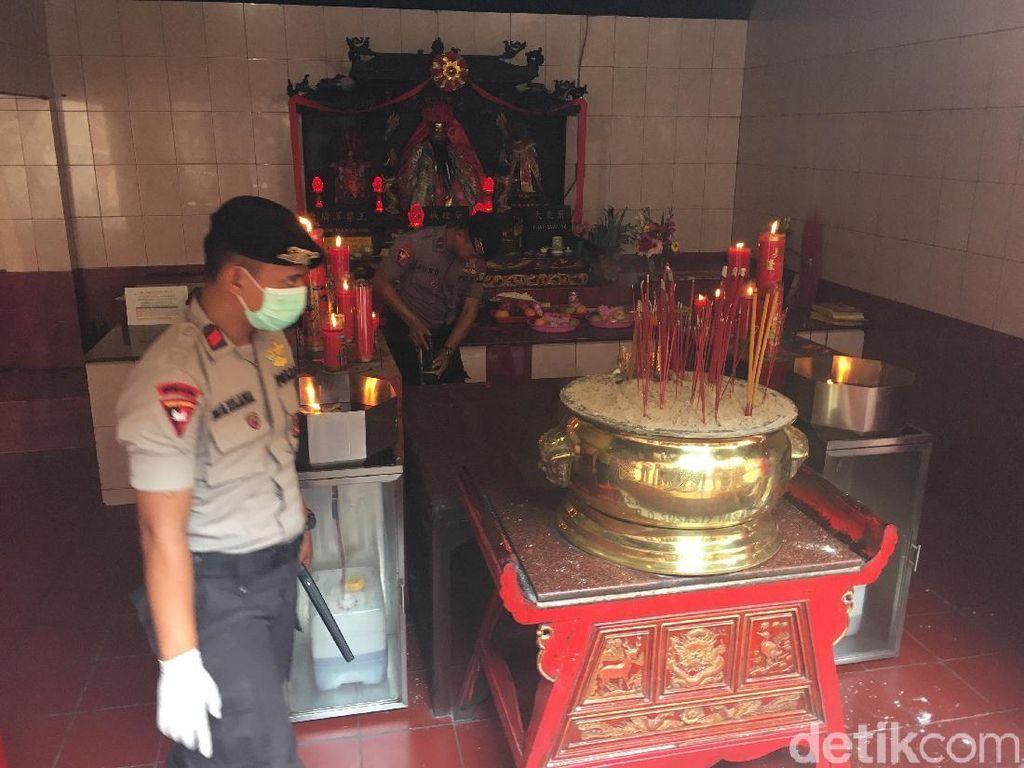 Pastikan Ibadah Imlek Aman, Gegana Sisir Vihara Dharma Bakti