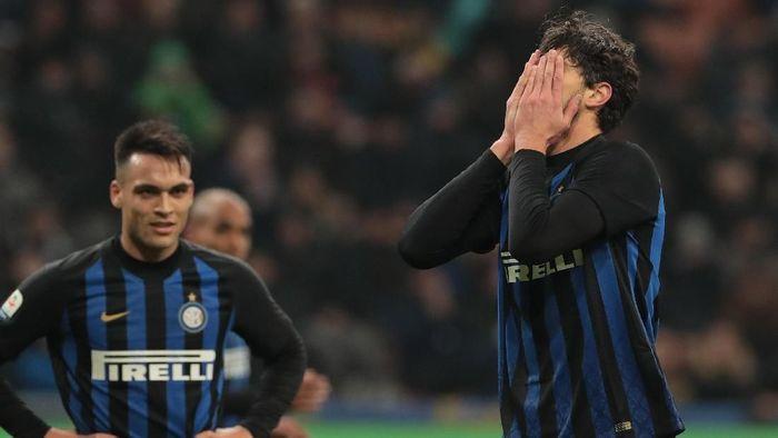 Inter Milan kalah dari Bologna. (Foto: Emilio Andreoli/Getty Images)