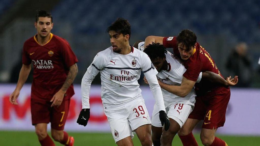 Duel Roma vs Milan Tanpa Pemenang