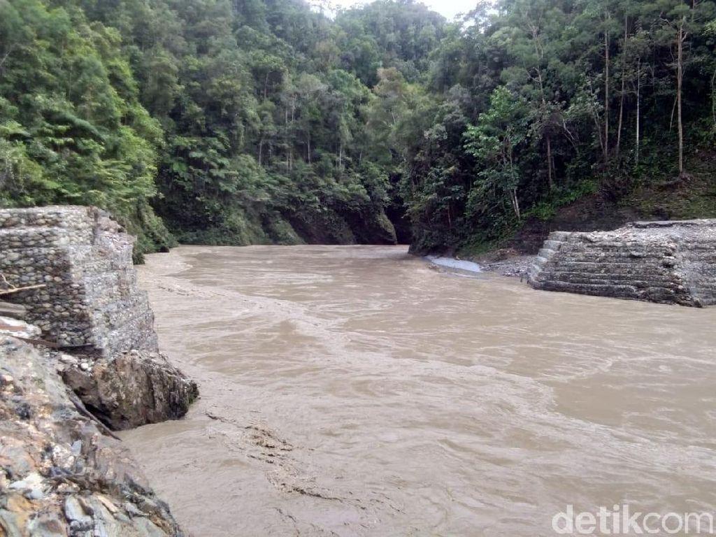 Jembatan Yahuli Ambrol, Jalan Trans Papua Rute Jayapura-Wamena Putus