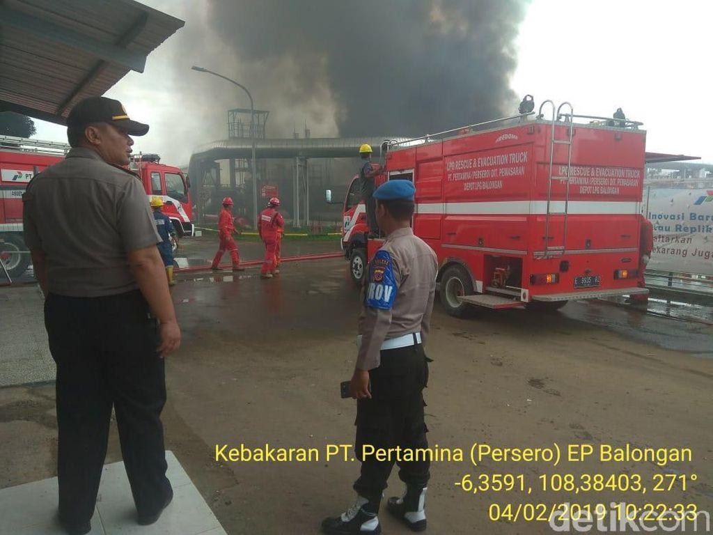 Polisi Selidiki Kebakaran Area Pertamina Balongan