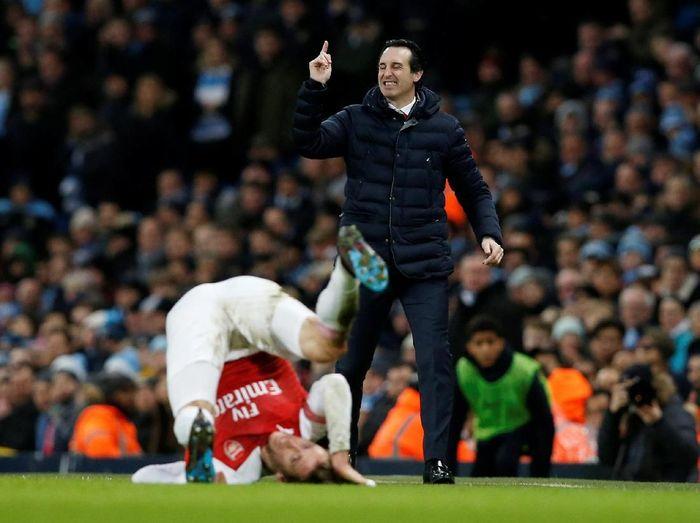 Arsenal kalah 1-3 dari Manchester City. (Foto: Andrew Yates/Reuters)