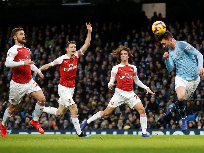 Pemain Arsenal saat kalah dari Manchester City. (Foto: Carl Recine/Action Images via Reuters)