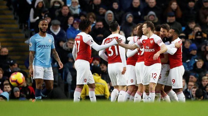Kekalahan di markas Manchester City memperpanjang rekor buruk Arsenal di laga tandang Liga Inggris musim ini (Foto: Carl Recine/Action Images via Reuters)