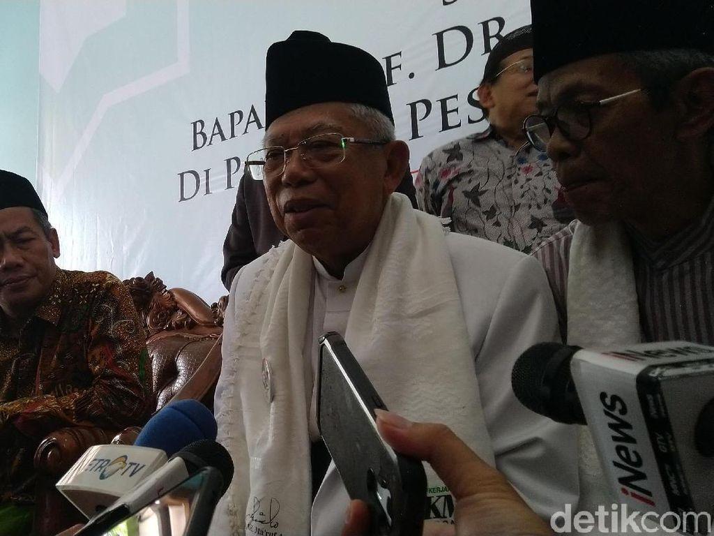 Maruf Amin Sebut Serangan Jokowi Demi Tepis Black Campaign