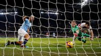 Hasil Liga Inggris: Aguero Hat-trick, City Kalahkan Arsenal 3-1