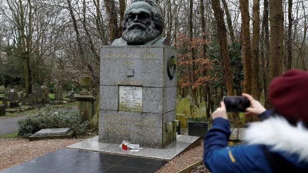 Ilustrasi foto tokoh Marxisme Karl Marx. (