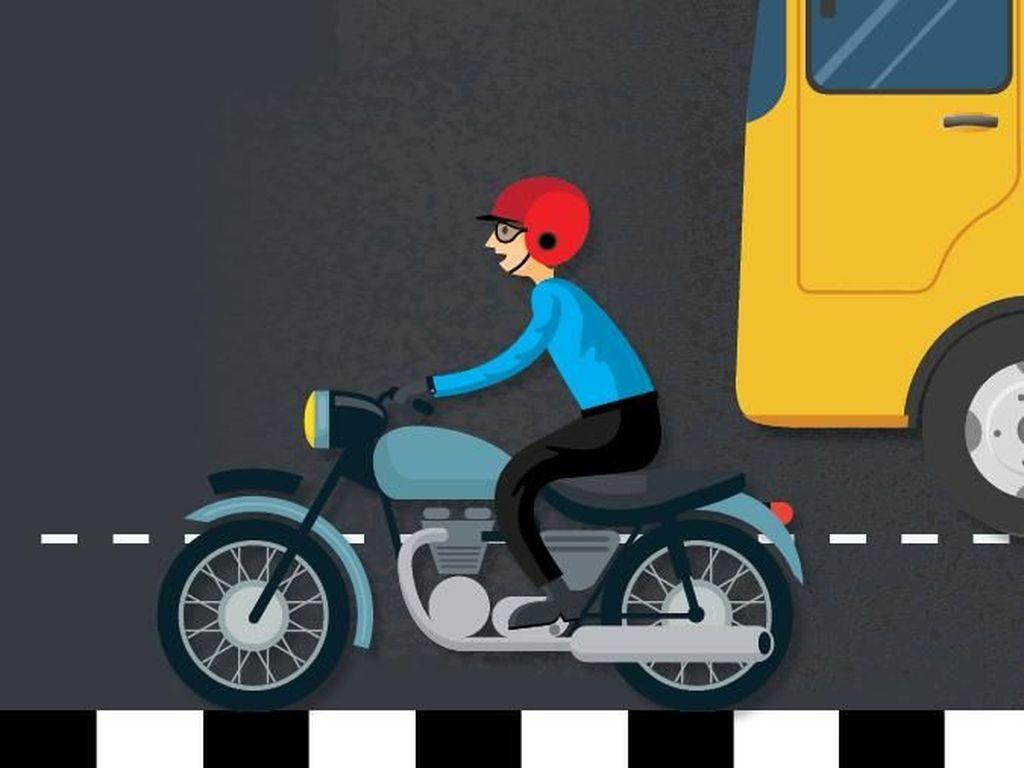 Pengendara Motor Masuk Tol, Tidak Boleh Pakai Helm Sembarangan