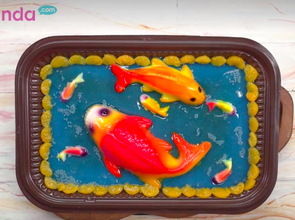 Resep Puding Ikan Koi, Dessert Meriah & Lucu di Tahun Baru Imlek