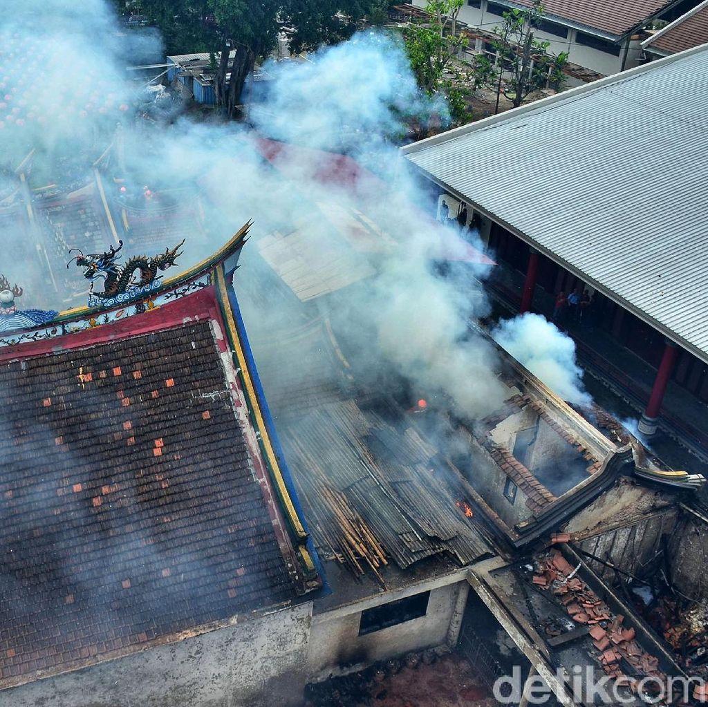 Polisi Selidiki Penyebab Kebakaran Vihara Samudra Bhakti Bandung