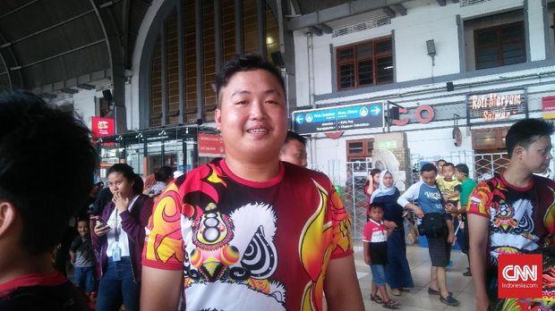 Rio (19), anggota tim penari barongsai Patkwa Dance Team.