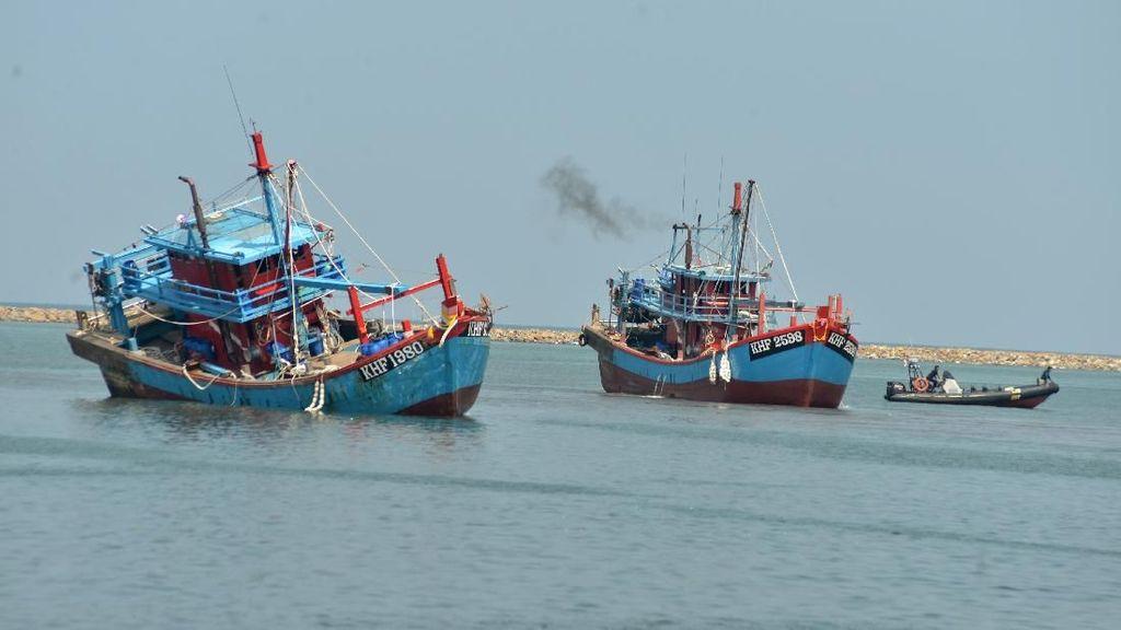Masuk Perairan Indonesia, Dua Kapal Ikan Malaysia Ditangkap