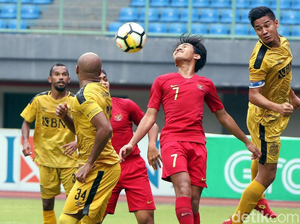 Timnas U-22 vs Bhayangkara FC Tanpa Pemenang