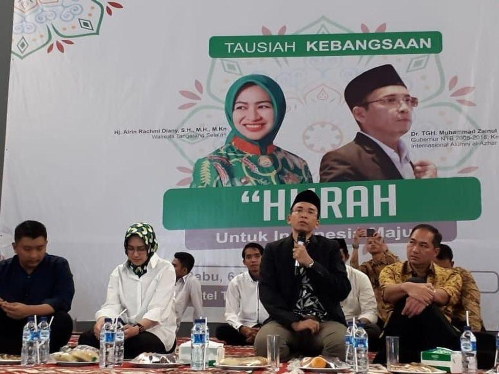 TGB Ajak Hijrah Kebangsaan: Banyak Hoax, Padahal Arah Indonesia Benar