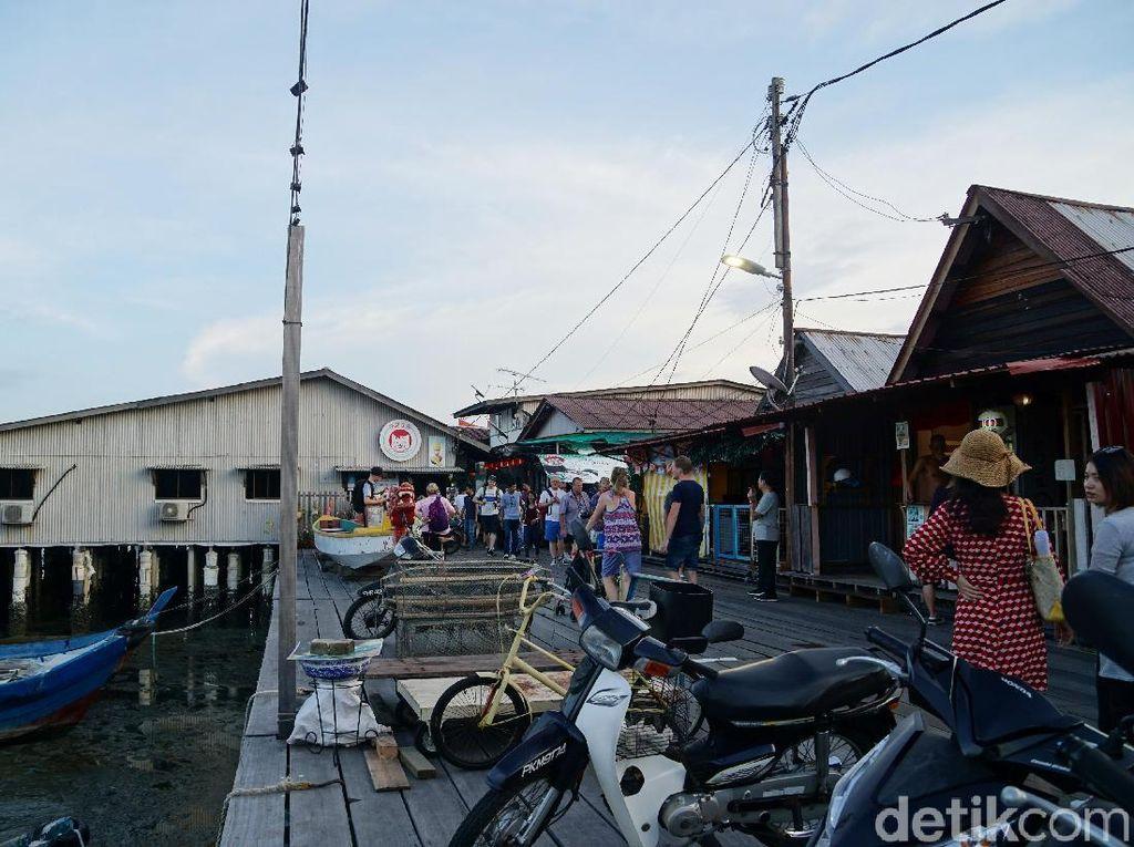 Foto: Main ke Kampung Nelayan UNESCO di Penang