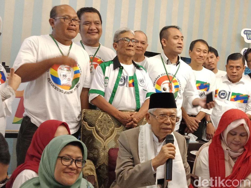 Jokowi-Maruf Kantongi Dukungan dari Gerakan Alumni ITB dan UPN
