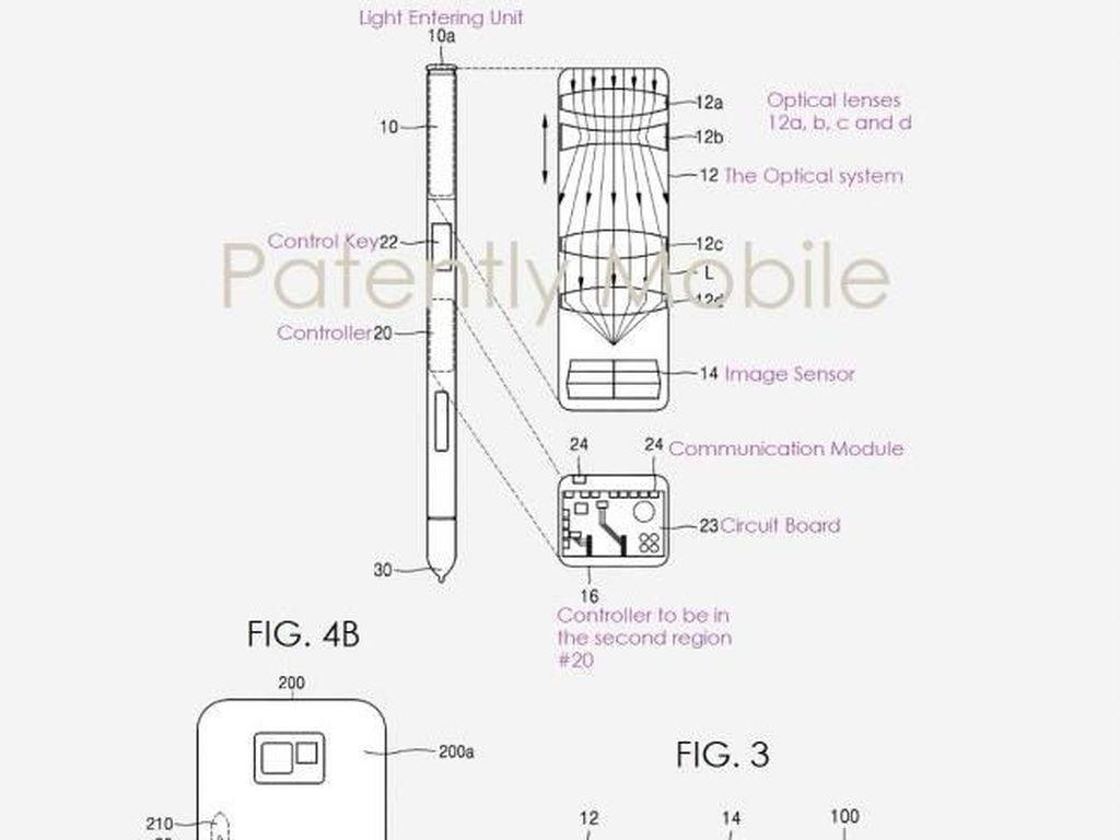 Ide Samsung Buat Lenyapkan Notch: Taruh Kamera di S Pen
