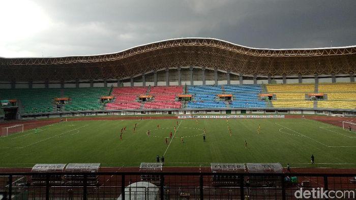 Stadion Patriot bekasi akan digunakan Persija dan Bhayangkara FC di Liga 1 2019 (Amalia Dwi Septi/detikSport)
