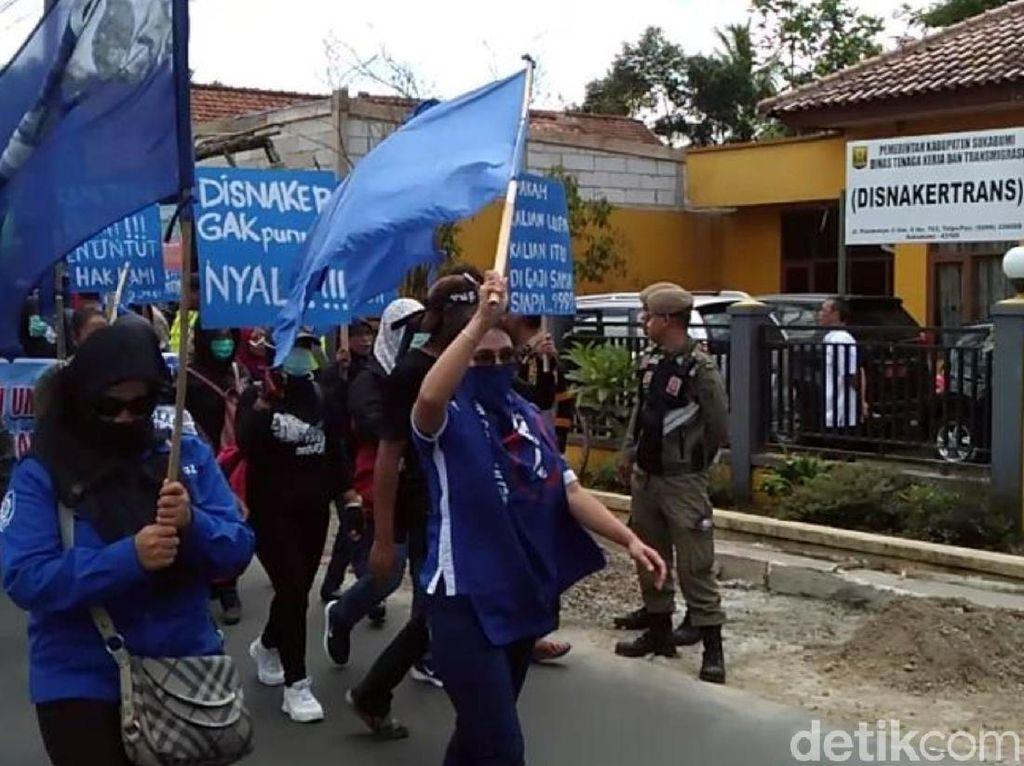 Buruh Desak Bupati Sukabumi Tuntaskan PHK dan Tunggakan Gaji
