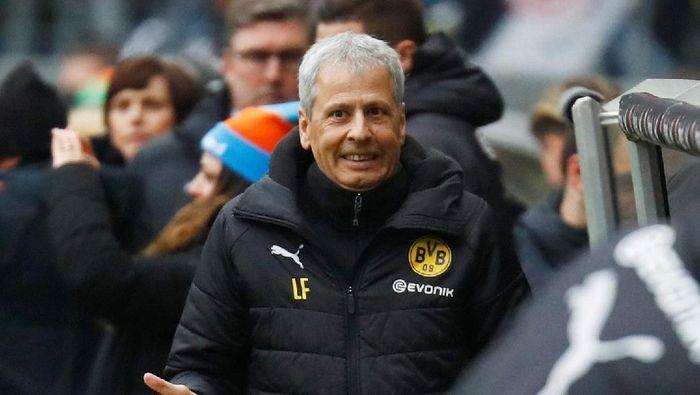 Lucien Favre bakal dapat kontrak baru dari Borussia Dortmund (REUTERS/Kai Pfaffenbach)