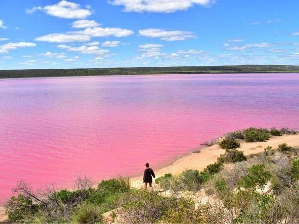 Di Australia Ada Danau Pink yang Bisa Berubah Warna, Penasaran?