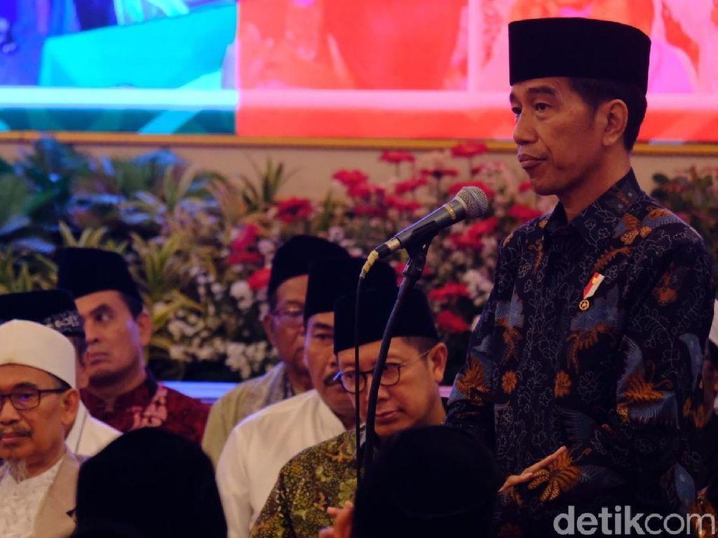 Di Depan Kiai dan Habaib Se-Jadetabek, Jokowi Bicara Semburan Fitnah