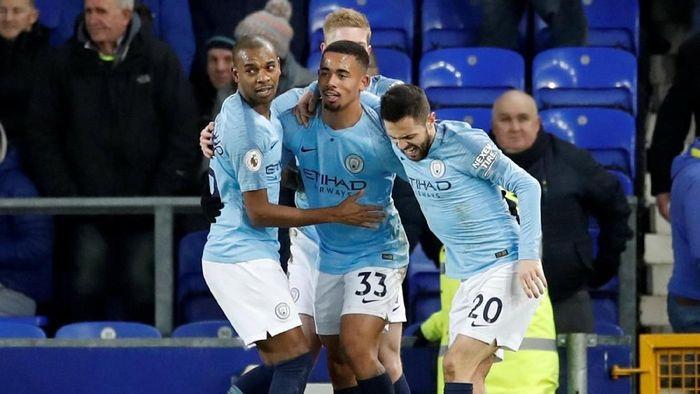 Manchester City kembali ke puncak usai kalahkan Everton (Carl Recine/Reuters)