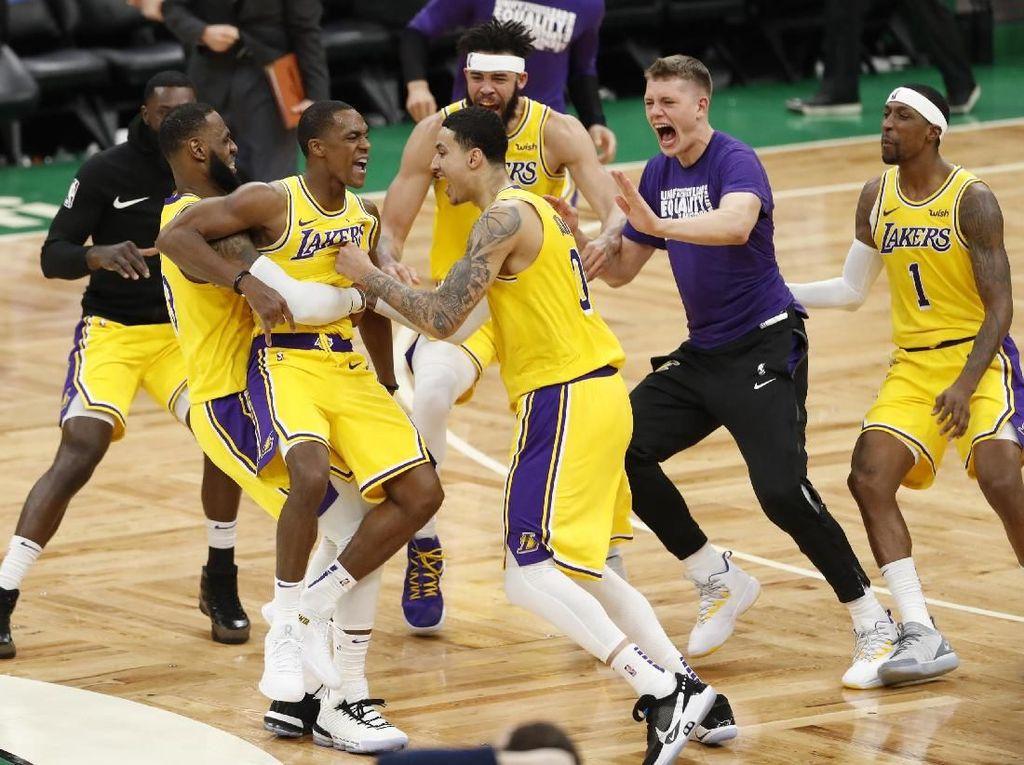 Hasil NBA: Buzzer Beater Rondo Bawa Lakers Kalahkan Celtics