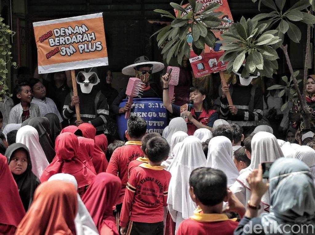 Serunya Kampanye Pencegahan DBD di Sekolah Dasar