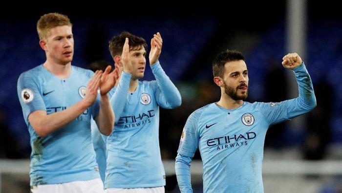 Manchester City berharap MU kalahkan Liverpool di Premier League.  (Phil Noble/Reuters)