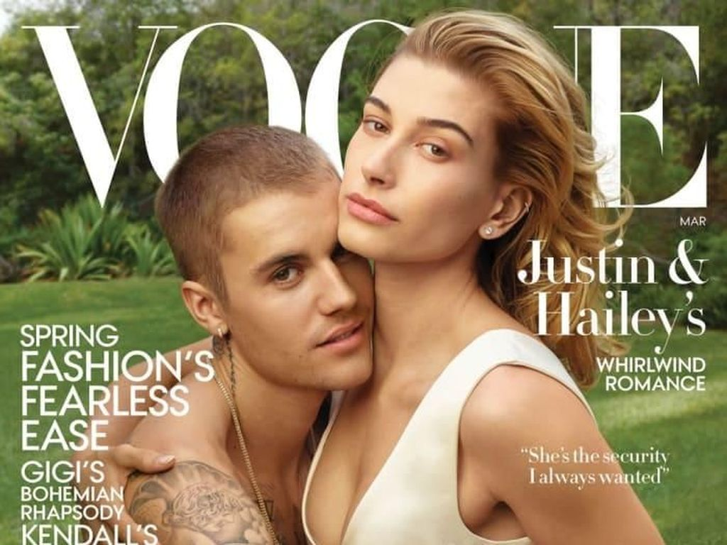 Foto: Perdana, Justin Bieber dan Hailey Baldwin Mesra di Cover Vogue