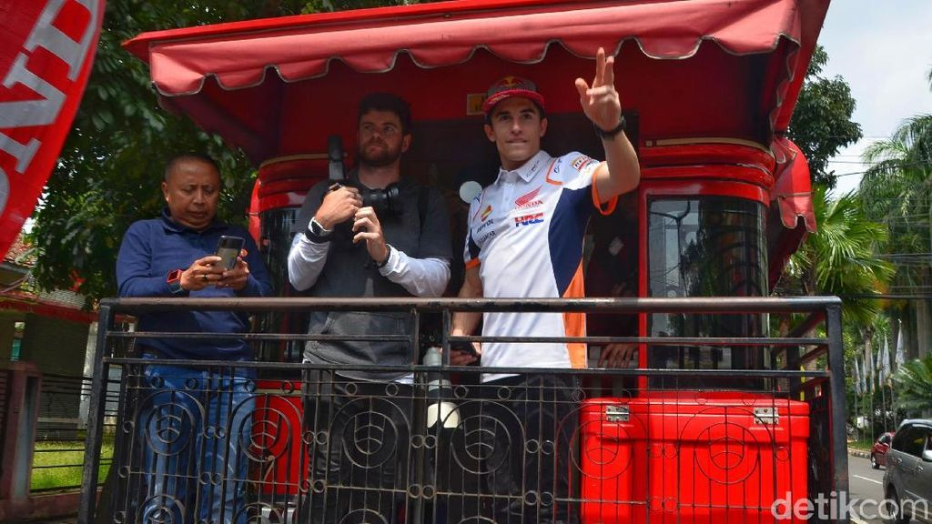 Keseruan Marc Marquez Saat di Bandung