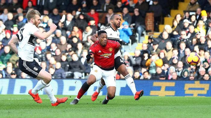 Manchester United unggul 2-0 atas Fulham. (Foto: Clive Rose/Getty Images)