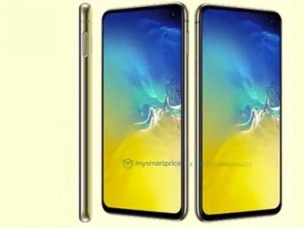 Tampang Ponsel Flagship Murah Galaxy S10e Warna Kuning