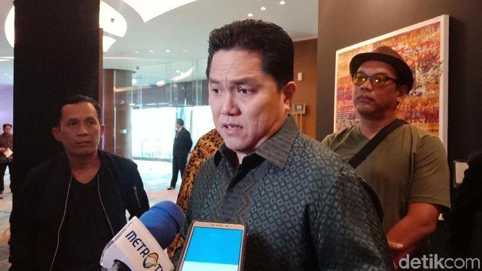Erick Thohir dijagokan menjadi ketua umum PSSI. (Eva Safitri/detikSport)